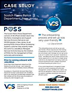 VCS cover POSS case study Scotch Plains NJ