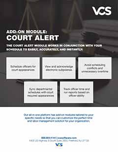 court alert module cover