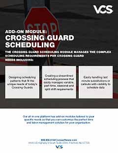 crossing guard module cover