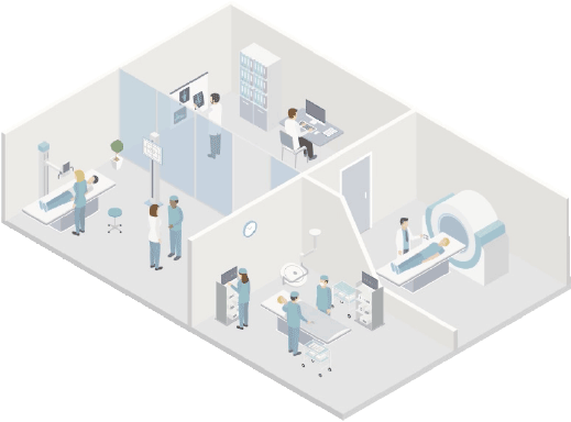 medical office isometric