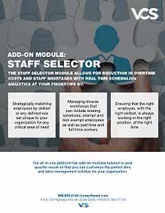 staff selector module cover